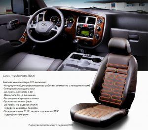 Hyundai Porter - салон машины