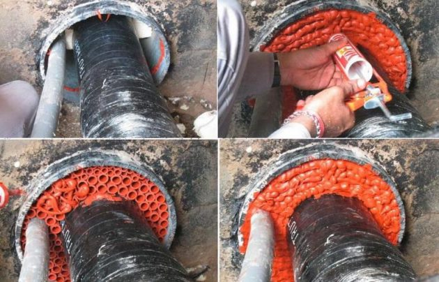Использование герметика для канализационных труб