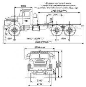 КРАЗ 260 - шасси седального тягача