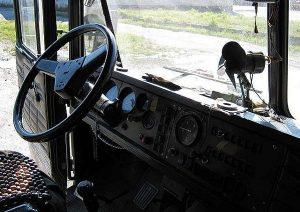 Кабина КрАза-250 внутри