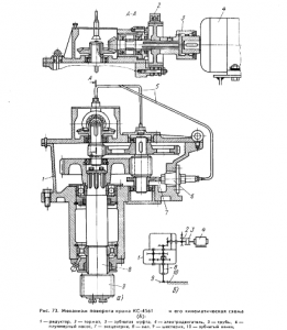 Механизм поворота крана КС-4561
