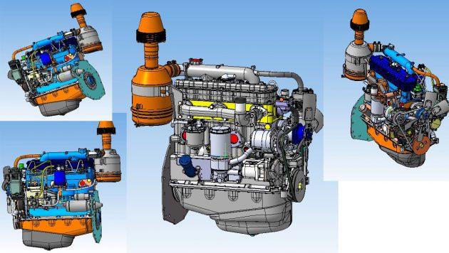 Мотор Д243 под разными углами