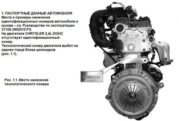 Мотор Крайслер 2,4 L-DOHC