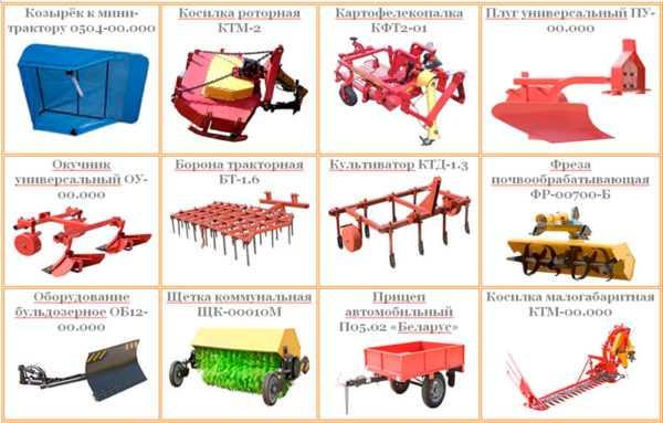 Навесное и прицепное оборудование для трактора МТЗ-132Н
