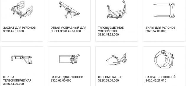 Навесное оборудование для АМКОДОР-352