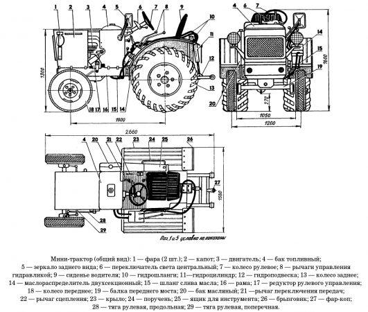 Общий вид мини-трактора