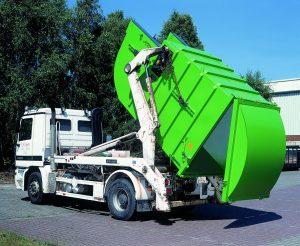 Портальный мусоровоз