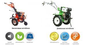 Преимущества бензиновых и дизельных мотоблоков