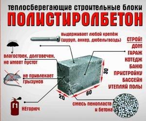 Применение полистиролбетона в строительстве