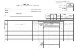 Рапорт о работе строительной машины (механизма) - форма ЭСМ-3
