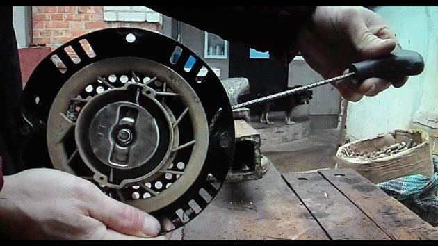 Ручной стартер мотоблока