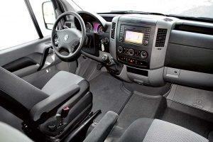 Салон кабины Volkswagen Crafter