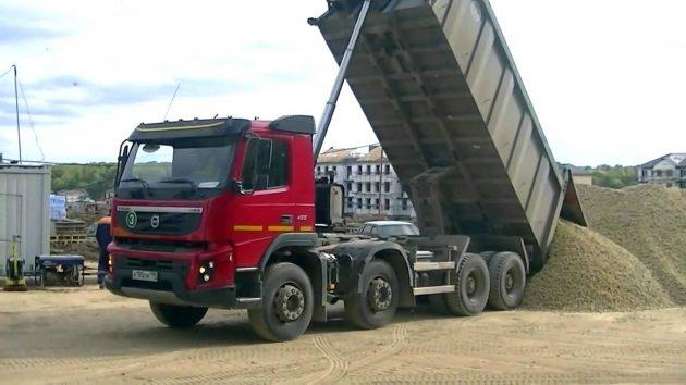 Самосвал Volvo FMX 8x4