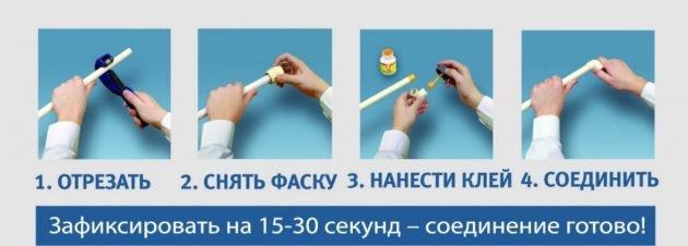 Схема холодной сварки пластиковых труб