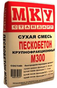 Состав пескобетона М300