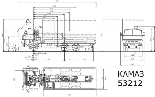 Технические характеристики КамАЗ-53212