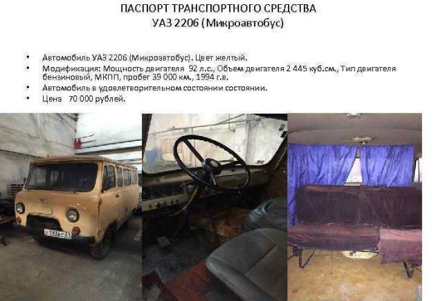 УАЗ-2206 устройство