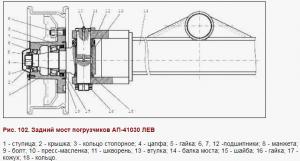 Задний мост АП-41030 ЛЕВ