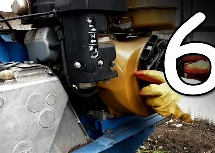 Замена масла в двигателе мотоблока (6)