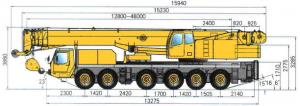 Автокран XCMG QY 100K - размеры