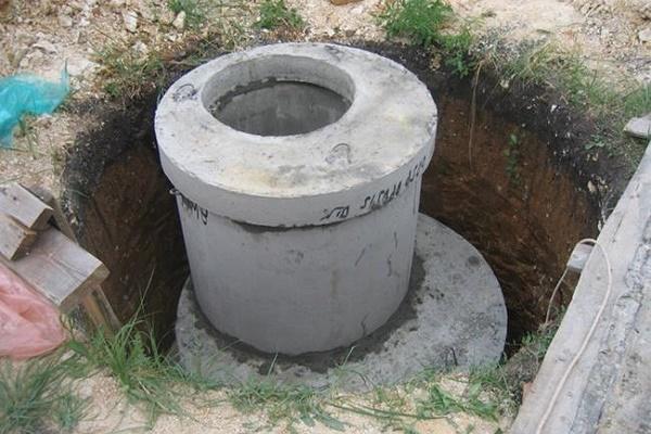 Бетонная бочка для выгребной ямы