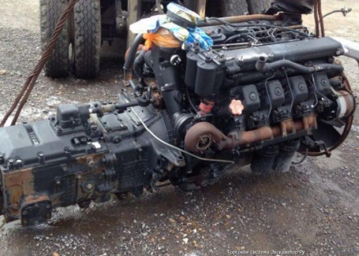Двигатель Камаза 5320 с коробкой передач