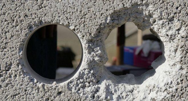 Дырка в бетонной стене