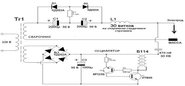 Электрическая схема осциллятора