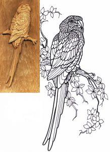 Эскиз для резьбы по дереву