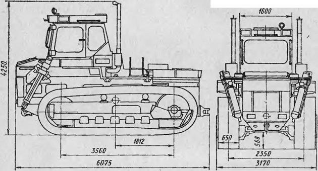 Габаритные размеры трактора Т-330