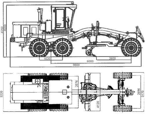 Габариты грейдера ДЗ-98