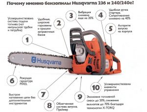 Характеристика бензопилы Husqvarna 240 E