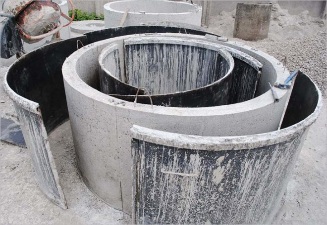 Изготовление септика из бетонных колец