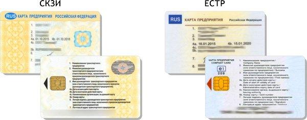 Как выглядят карты типов СКЗИ и ЕСТР