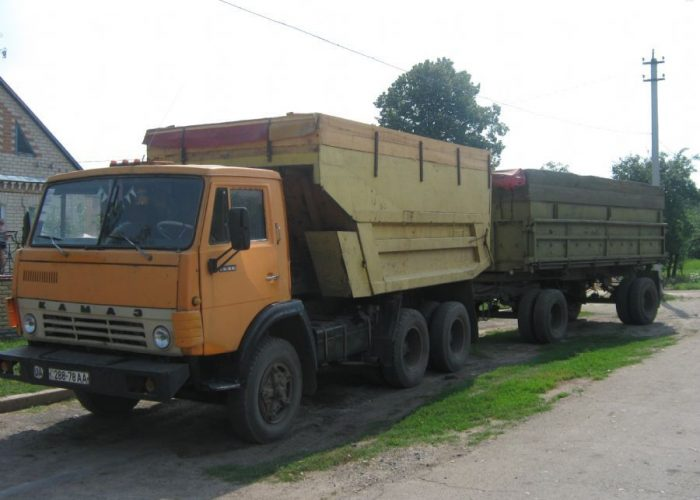 Камаз 5511 с прицепом делтый