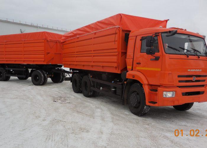 Камаз 5511 зерновоз оранжевый