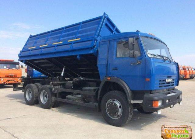 Камаз 5511 зерновоз синий