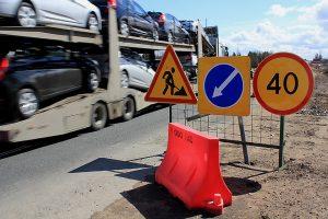 Максимальная скорость движения при дорожных работах