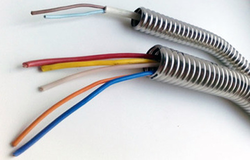 Металлическая гофрированная труба для проводки