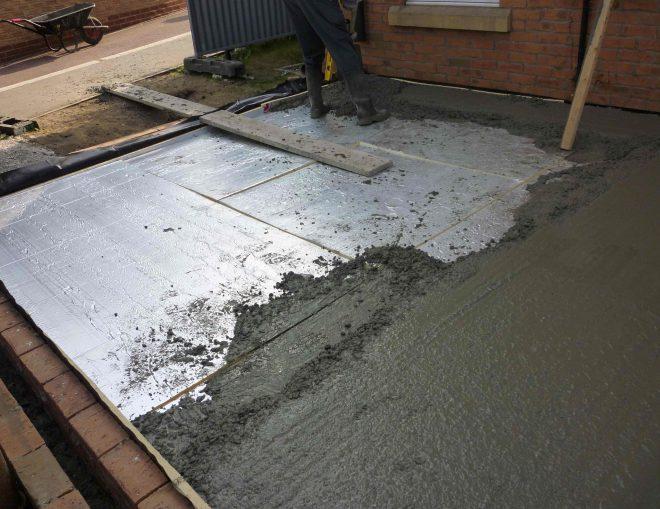 Монтаж бетонного пола по грунту