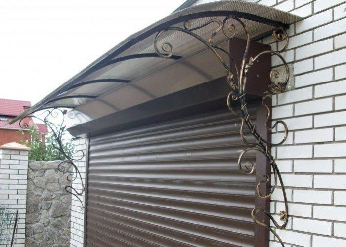 Навес от гаражных ворот
