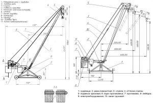 Параметры строительного стрелового крана