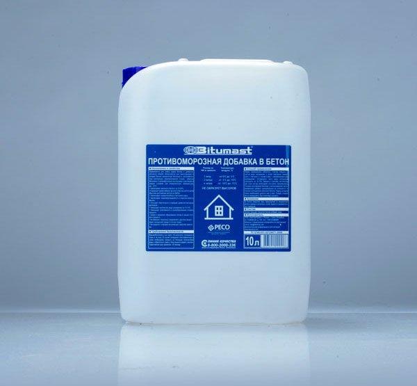 Противоморозная добавка в бетон до -30°С