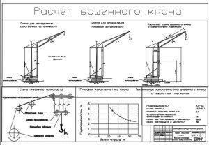 Расчет башенного крана