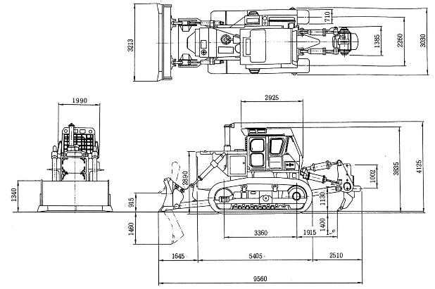 Размеры Комацу Д355