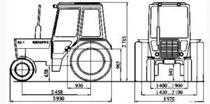 Размеры МТЗ 892