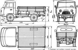 Размеры УАЗ –3303