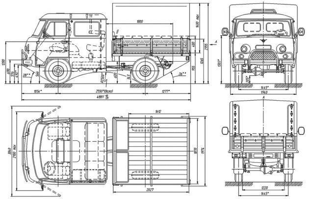 Размеры УАЗ 390945