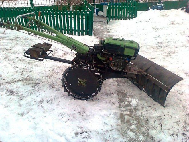 Снегоуборочный отвал для мотоблока своими руками