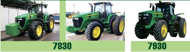 Трактор John Deere 7830 и 7930